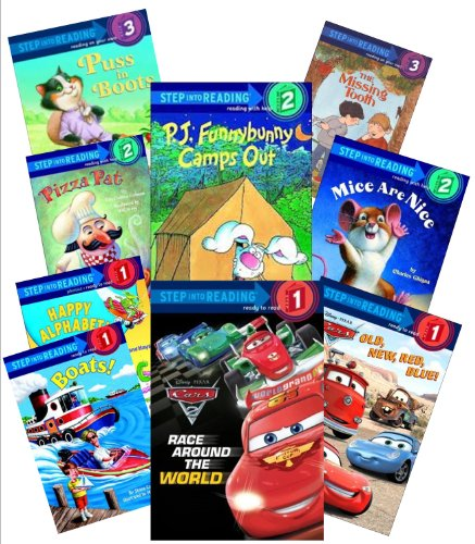 Step Into Reading Collection (12) : Dc Super Friends; Pj Funny Bunny; Pixar Cars, Red Blue, Old New; Race Around the World; the Incredibles, Incredible Dash (Book Sets for Kids : Kindergarten - Grade 1)