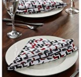 @home by Nilkamal 16'x16' Outblush Table Napkin, Multi