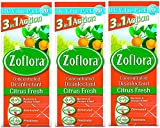 3 x Zoflora Concentrated Antibacterial Disinfectant Citrus Fresh 500ml