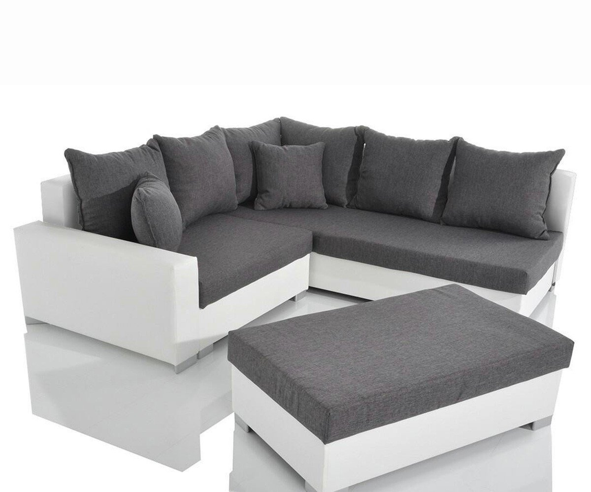 couch lavello grau weiss 210 210 cm sofa mit sitzhocker. Black Bedroom Furniture Sets. Home Design Ideas