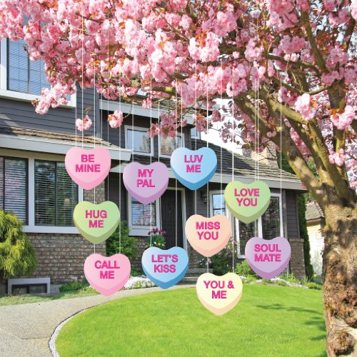 Valentine's Lawn Decorations - Hanging Candy