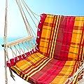 Hängematte Hängesessel Hängesitz Hängestuhl zum aufhängen, mit Lehnen und Fußteil bis 100kg Traglast von MS-Point auf Gartenmöbel von Du und Dein Garten