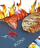 Kona BBQ Non-Stick Grill Mat, 16 x 13-Inch, Set of 2