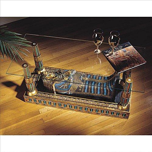 Design Toscano CL2849 Tavolo con Ripiano Scultura Luxor, Multicolore, 48.5x106.5x47 cm