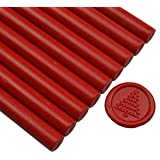 Red Wax Seal Sticks for Glue Gun - Great for Wedding Invitations, Cards Envelopes, Snail Mails, Wine Packages, Gift Wrapping (Color: Red)