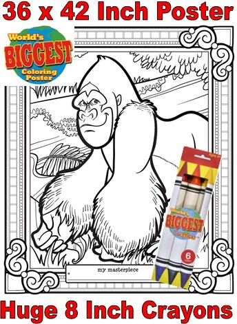Just For Laughs World's Biggest Coloring Posters Combo- Gorilla - 1
