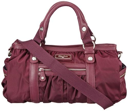 Hilfiger Denim Womens KAYLA SATCHEL Handbag Purple Violett (POTENT PURPLE 512) Size: 38x28x11 cm (B x H x T)