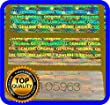 150 Hologram labels with serial numbers, warranty stickers seals 1.18 x .39 inch