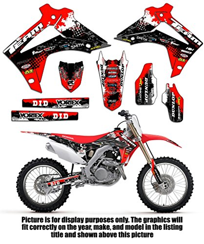 Team Racing Graphics kit for 2002-2004 Honda CRF 450R, SCATTER (Honda Crf 450r Parts compare prices)