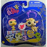 Littlest Pet Shop: Messiest Pet Pairs Little Duck (#1002) And Lamb (#1003) With Blanket And Headband Action Figure...