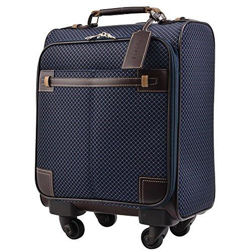 キャリーケース ピジョール ユーゴTR スーツケース TSA南京錠 機内持ち込み PUJOLS ソフトタイプ 4輪 15L 1日 2日用 36cm 45667 (ネイビー)