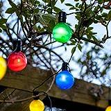 Guirlande Lumineuse Guinguette Solaire avec 16 Boules LED Multicolores de Lights4fun
