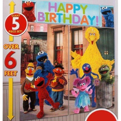 New Sesame Street Scene Setter Happy Birthday Party Wall Decor Decoration Elmo New front-65920