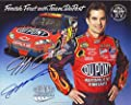 AUTOGRAPHED 2007 Jeff Gordon #24 DuPont Flames Racing (Finish First with Team DuPont) Signed Photo 8X10 NASCAR Hero Card with COA