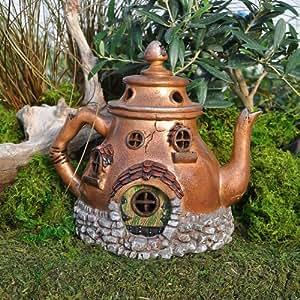 Miniature fairy garden tea pot house for Amazon uk fairy doors