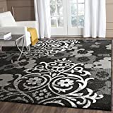 Safavieh Adirondack Collection ADR114A Black and Silver Area Rug, 9 feet by 12 feet (9' x 12')