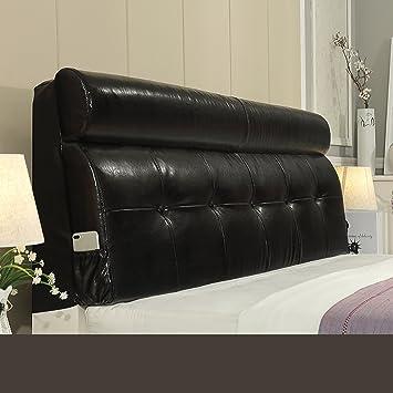 GUOWEI Coussin de chevet Luxury Support Coussin lombaire à dos de lit à oreiller de luxe-4 couleurs, 5 tailles disponibles Bureau Lumbar Pad ( Couleur : D , taille : 200*60*12CM )