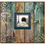 MBI Vintage Travel Post Bound Scrapbook with Window, 12 by 12-Inch