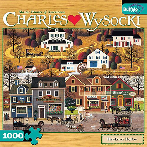 61ircKzWbsL Buy  1000 Piece Charles Wysocki Hawkriver Hollow Jigsaw Puzzle