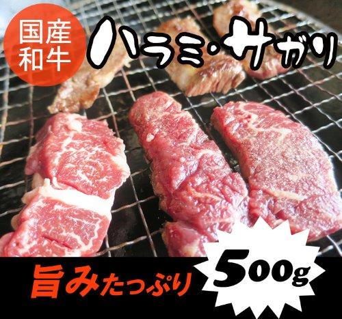 国産和牛ハラミ (サガリ) 500g/焼肉(焼き肉)バーベキュー(BBQ)に!