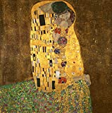 Wieco Art Canvas Print of the Kiss by Klimt Oil Paintings Modern Canvas Wall Art for Home Decor
