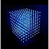Yosoo 8x8x8 3D LED DIY Cube Light Kit Squared White LED blue Ray (Color: White)