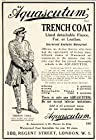 1918 Ad Aquascutum Trench Coat Fleece Fur Leather Waterproof Fashion London Man - Original Print Ad