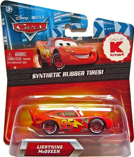 Disney / Pixar CARS Movie Exclusive 155 Die Cast Car with Synthetic Rubber Tires Lightning McQueen Rusteze version