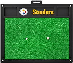 Fan Mats NFL Pittsburgh Steelers Golf Hitting Mat at SteelerMania
