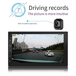 WZTO Double Din Car GPS Navigation Stereo, 7 inch Quad-Core Android 8.1 Touch Screen in Dash Navigation Car Radio Video Player with Bluetooth GPS WiFi Mirror Link Multimedia(1G RAM+16G ROM) (Tamaño: Navigation)