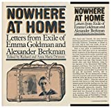 img - for Nowhere at Home: Letters from Exile by Emma Goldman (1975-11-02) book / textbook / text book