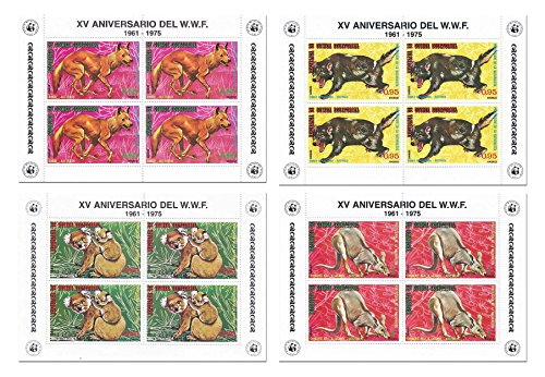 the-wwf-world-wildlife-fund-animal-nature-stamp-set-for-collectors-with-16-stamps-over-4-mint-sheets