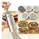 Ptes-Machine--ptes-en-acier-inoxydable-de-fruits-et-lgumes-Presse-agrumes-de-presse-Rigatoni-gramflour-nouilles-riz-nouilles-Machine-de-cuisine-inspire-Outil-1-x-Cafetire-5-x-Moule