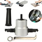 Double Head Sheet Nibbler Metal Cutter Hole Saw Drill Attachment Tool