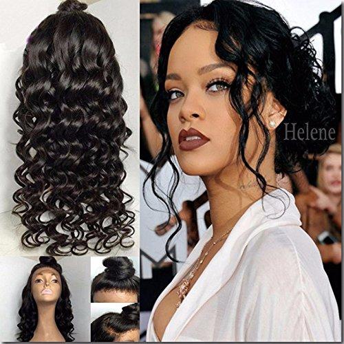 Helene-cheveux-2016-Hot-vente-Wave-en-dentelle-intgrale-Bob-perruque-chtain-naturel-Perruques-Perruques-Lace-Front-pour-femme-Noir-avec-cheveux-de-bb-Densit-130-203-cm-26-cm
