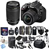 Nikon D5300 24.2 MP CMOS Digital SLR Camera With Nikon 18-55mm f/3.5-5.6G VR II AF-S DX NIKKOR Zoom Lens & Nikon 70-300mm f/4-5.6G AF Nikkor SLR Camera Lens With CS Premium Package: Includes High Speed 32GB SDHC Memory Card, SD Card Reader, Memory Card Wallet, SLR Hand Strap, Lens Cap Keeper, High Definition Wide Angle Lens, Telephoto HD Lens, 3 Piece Filter Kit, 4 Piece Macro Close Up Set, Wireless Shutter Release, Shoe Mount Flash, Nikon EN-EL14 Replacement Battery, Rapid Travel Charger With Car Adapter, HDMI Cable, Tulip Lens Hood, Full Size Tripod, Weather Resistant Carrying Case, Brush Blower, Cleaning Kit, LCD Screen Protectors & CS Microfiber Cleaning Cloth