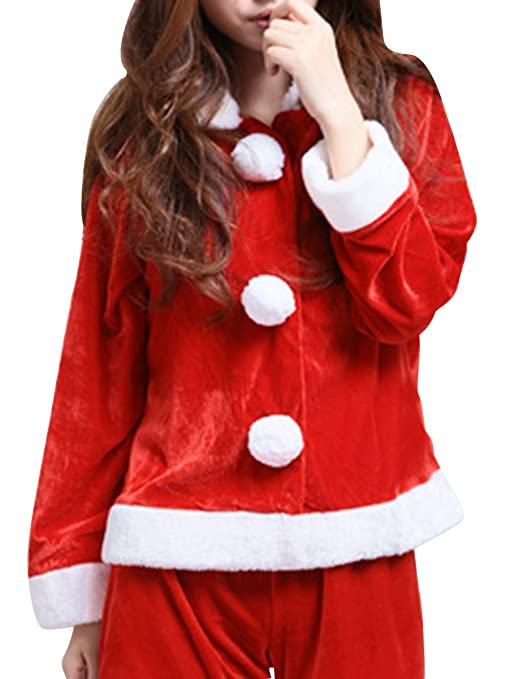 Meilya Women's Christmas Santa Cos Sweetie Fantasy Party Costume Red