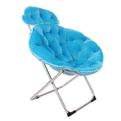 wysm Comedor perezoso silla 92 * 50 * 95cm plegable silla sillas de sol ( Color : Azul )