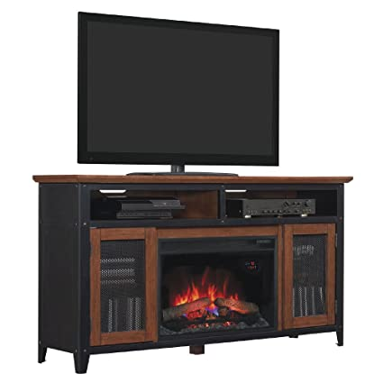 "ClassicFlame 26MM4964-C296 Landis TV Stand for TVs up to 65"", Old World Brown (Electric Fireplace Insert sold separately)"