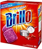 Brillo Steel Wool Soap Pads Jumbo, Red, 30 Count