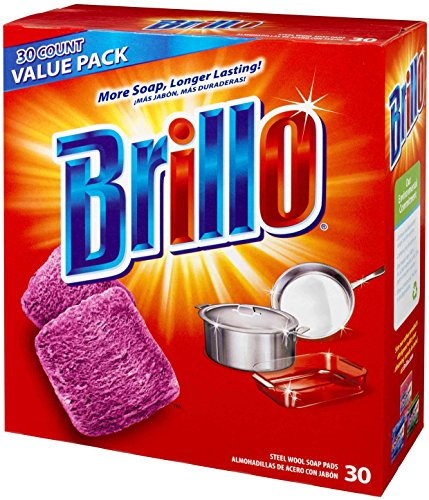 Brillo Steel Wool Soap Pads Jumbo, Red, 30 Count (Steel Wool Sponge compare prices)