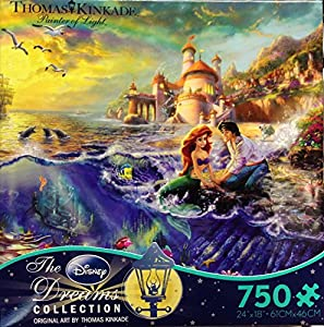 Ceaco Thomas Kinkade The Disney Dreams Collection The Little Mermaid Jigsaw Puzzle