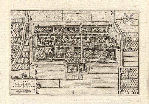 antiguo-theprintscollector-plan-ijsselstein-utrecht-netherlands-blaeu-1649