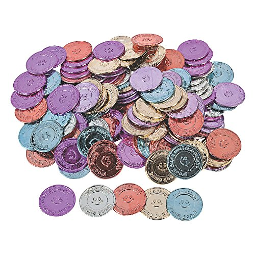 "Oriental Trading Company ""I Was Caught Being Good!"" Plastic Coins- Bulk (144 Piece)"