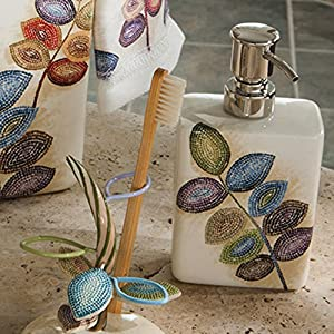 Mosaic Leaves Lotion Dispenser by Croscill