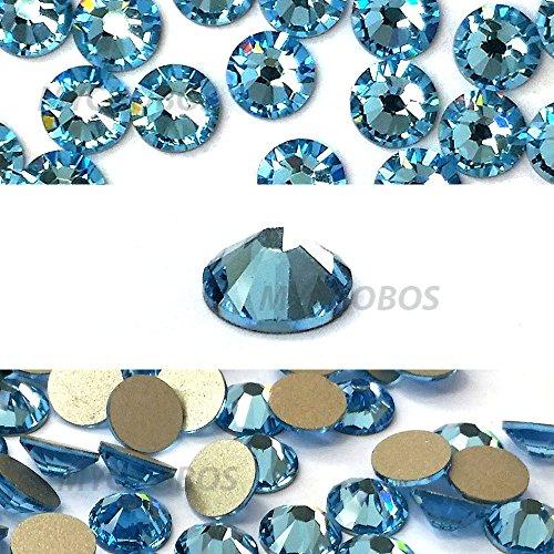 AQUAMARINE (202) lake blue Swarovski NEW 2088 XIRIUS Rose 34ss 7mm flatback No-Hotfix rhinestones ss34 18 pcs (1/8 gross) *FREE Shipping from Mychobos (Crystal-Wholesale)*