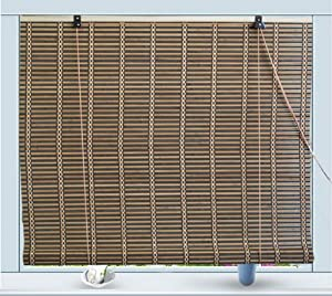 bamboo roll up window blind sun shade w42 x h72 window treatment roller shades. Black Bedroom Furniture Sets. Home Design Ideas