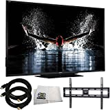 Sharp LC-90LE657U 90-inch Aquos HD 1080p 120Hz 3D Smart LED TV + Ultra-Slim Flat Mount + Two 12 Feet HDMI Cables + Microfiber Cleaning Cloth