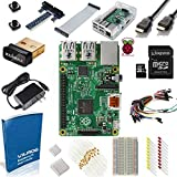 Raspberry Pi 2 Ultimate Starter Kit--With 200 Page Project Book-- Includes: Raspberry Pi 2 Model B--200 Page User Guide--Edimax EW-7811Un Wi-Fi Adapter--8GB Kingston Micro SD Card (Preloaded With NOOBS) --Clear Case--Power Supply and Much More