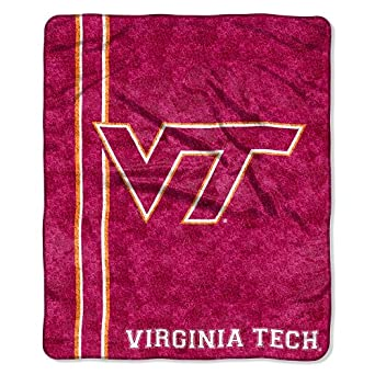 Buy NCAA Virginia Tech Hokies 50-Inch-by-60-Inch Sherpa on Sherpa Throw Blanket Jersey Design by Northwest